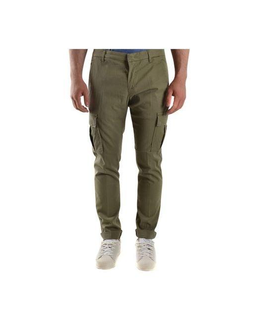 Trousers di Dondup in Green da Uomo