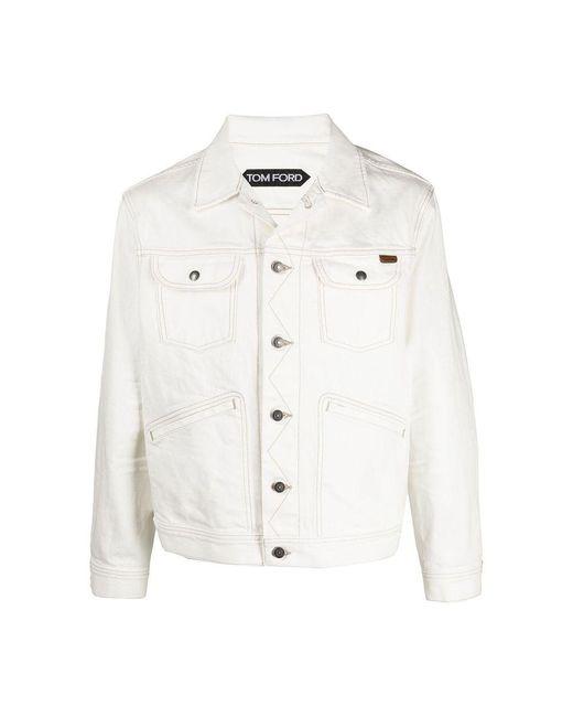 Tom Ford Jacket in het White voor heren