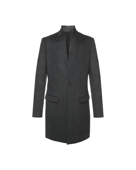 AllSaints 'bodell' Cropped Coat With Band Collar in het Gray voor heren