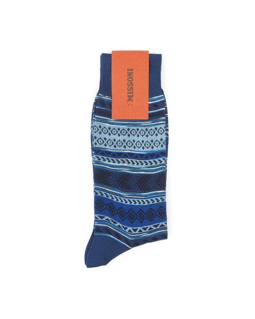 Calza Corta Socks di Missoni in Blue da Uomo