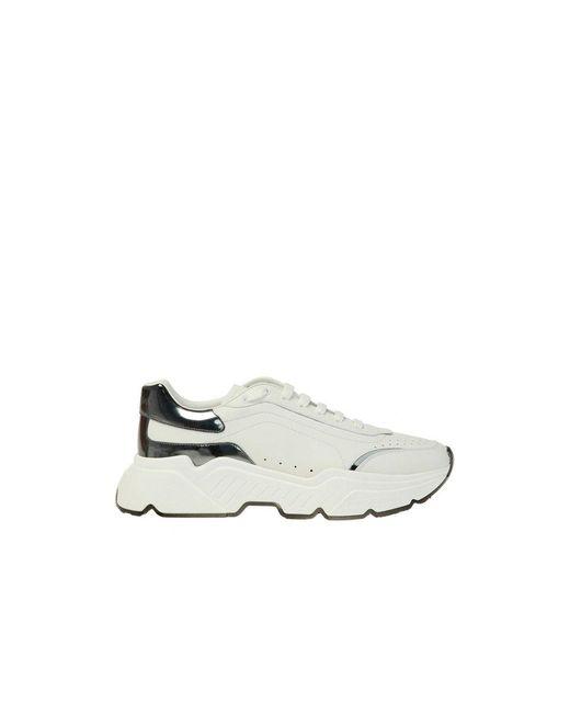 Dolce & Gabbana Logo-Turnschuhe in White für Herren
