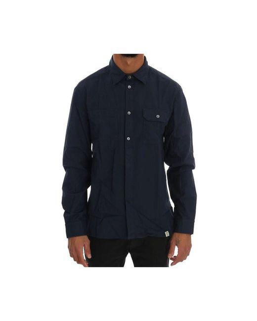John Galliano Long Sleeve Shirt in het Blue voor heren