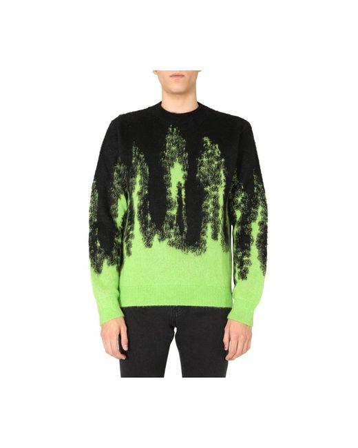 MSGM Crew Neck Sweater in het Black voor heren