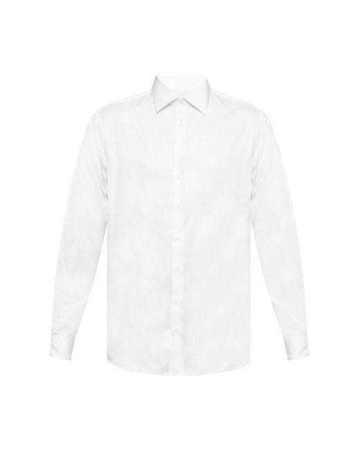 Giorgio Armani Cufflink Shirt in het White voor heren