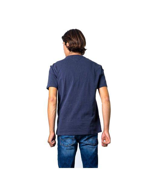 Camiseta de manga corta Azul Tommy Hilfiger de hombre de color Blue