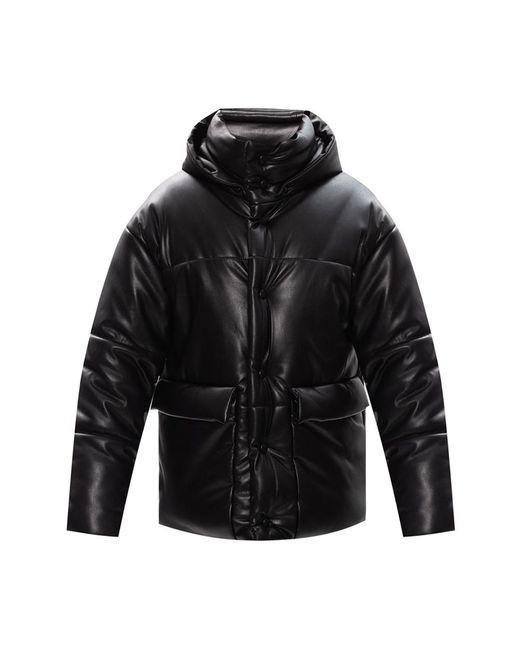 Puffer jacket with hood di Nanushka in Black da Uomo