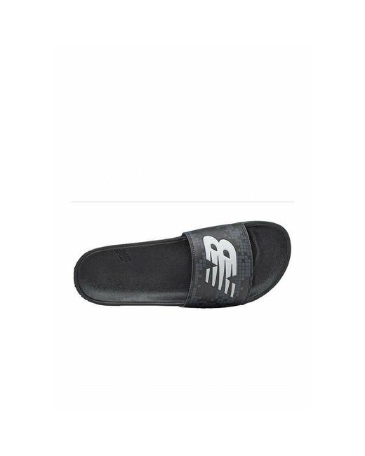 Mules à logo New Balance pour homme en coloris Noir - Lyst