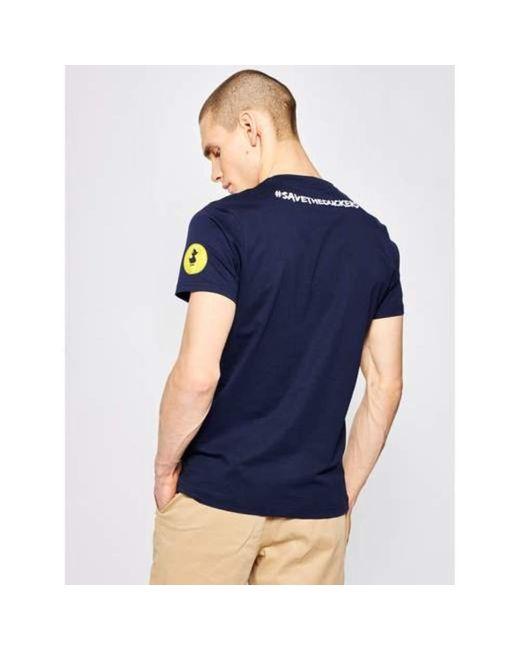 T-shirt Azul Save The Duck de hombre de color Blue