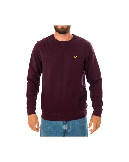 Lyle & Scott Crewneck Sweatshirt Ml424vtr.z562 in het Red voor heren