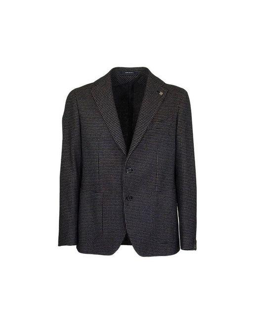 Tagliatore Two-button Jacket With Micro Pattern Blazer in het Blue voor heren
