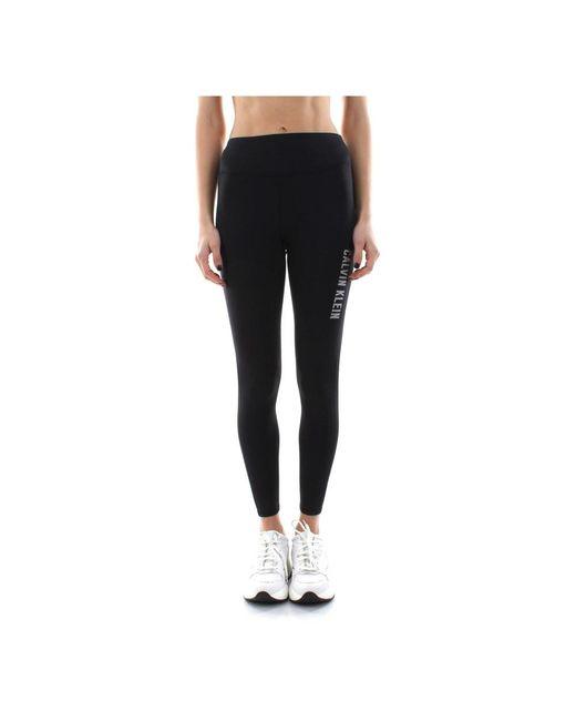 Calvin Klein Brushed Full Leggings in het Black