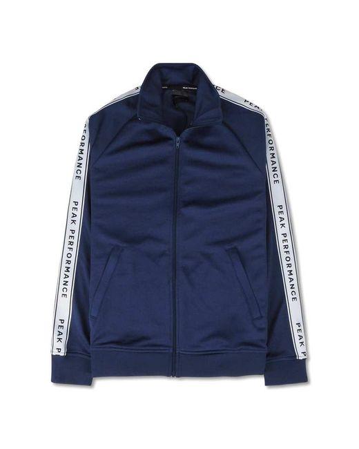 Peak Performance T Club Zip-Bluse in Blue für Herren