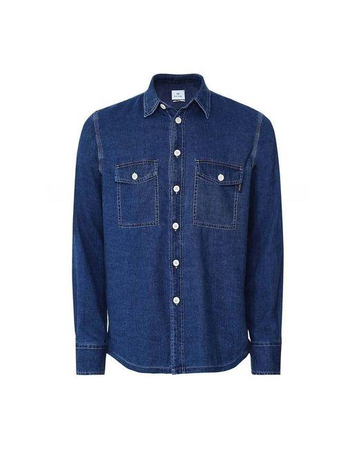 Paul Smith Denim Overhemd in het Blue voor heren