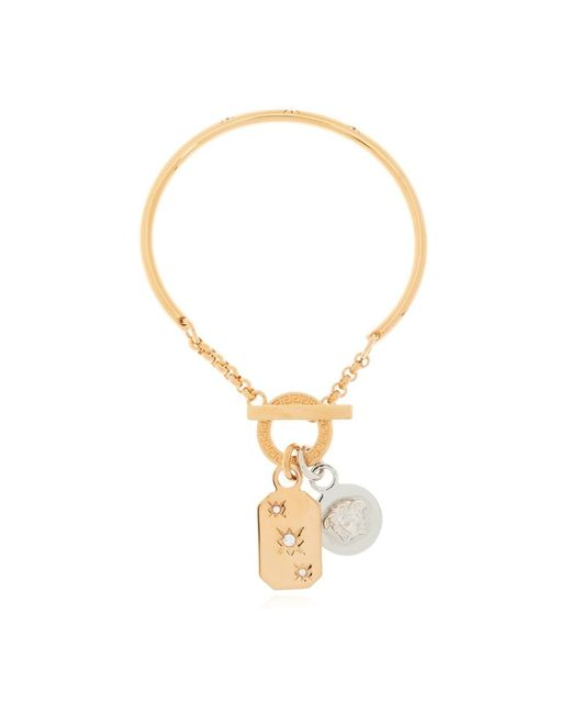 Bracelet with pendants di Versace in Yellow