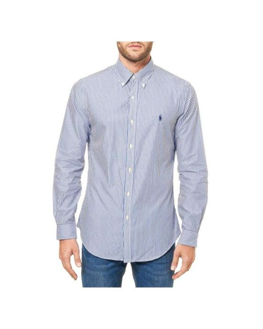 Polo Ralph Lauren Overhemden in het Blue voor heren