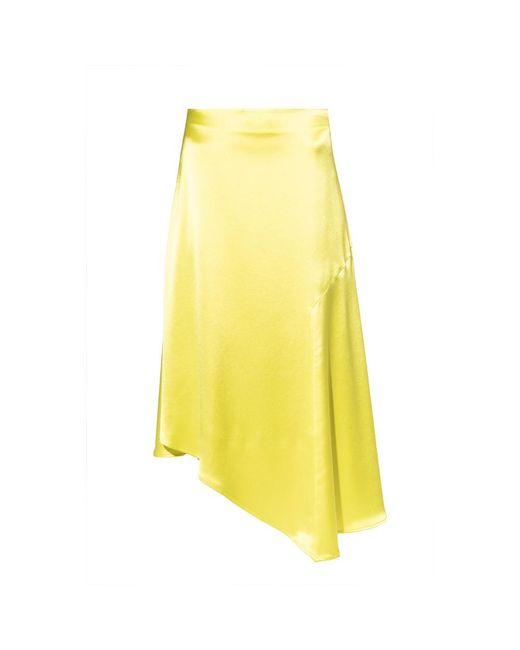 Ani satin skirt di AllSaints in Yellow