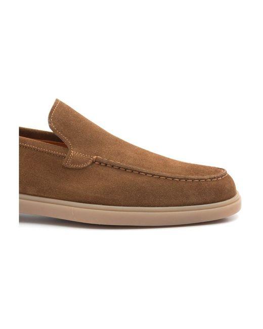 Flat shoes Santoni pour homme en coloris Brown