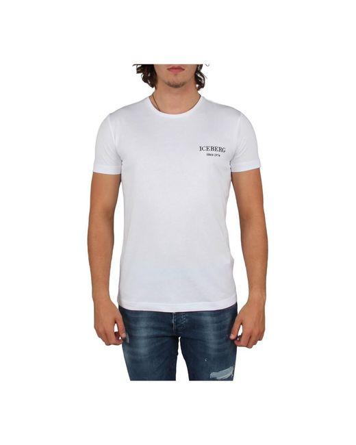 Iceberg T-shirt in het White voor heren