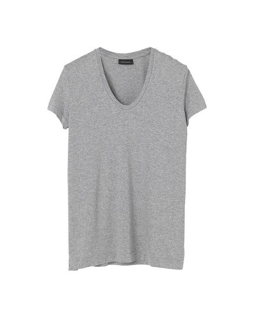 T-shirt Fevia di By Malene Birger in Gray