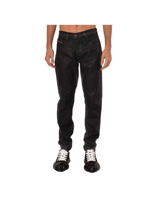 Jeans Jogg Strukt 5 Tasche di DIESEL in Black da Uomo