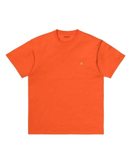 Chase T-shirt di Carhartt WIP in Orange da Uomo