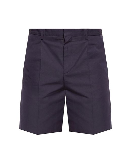 Pleat-front shorts di A.P.C. in Blue da Uomo