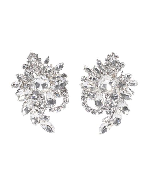 Earrings Alessandra Rich en coloris Gray