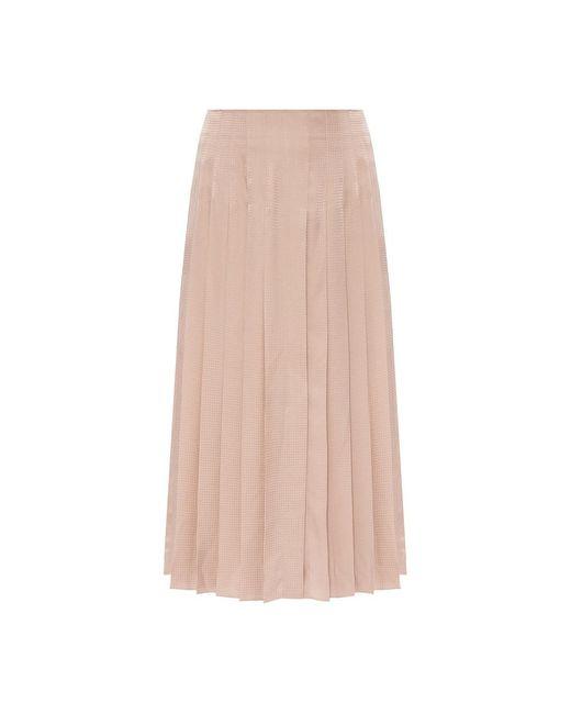 Agnona Pleated Skirt in het Natural