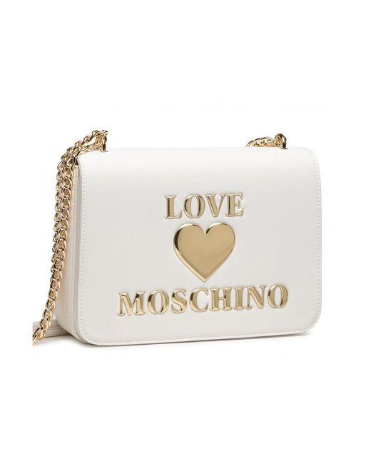 Love Moschino Shoulder Bag in het White