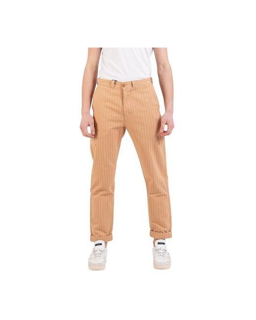 Lee Jeans Workwear Chino Rinse Gessato in het Natural voor heren