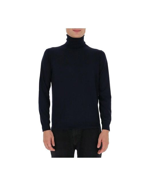Bally High Neck Knitted Jumper in het Black