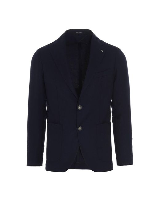 Tagliatore Coat in het Blue voor heren