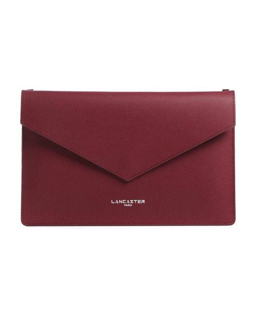 Lancaster Fold Over Clutch Bag in het Red