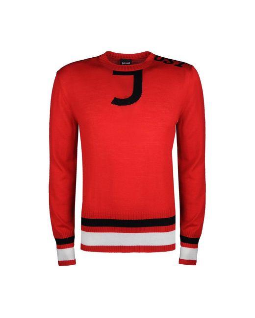 Roberto Cavalli Sweater in het Red voor heren