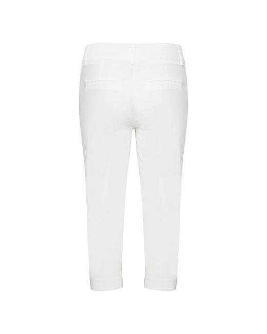 Striped Milano Knit Dress Blanco Thom Browne de color White