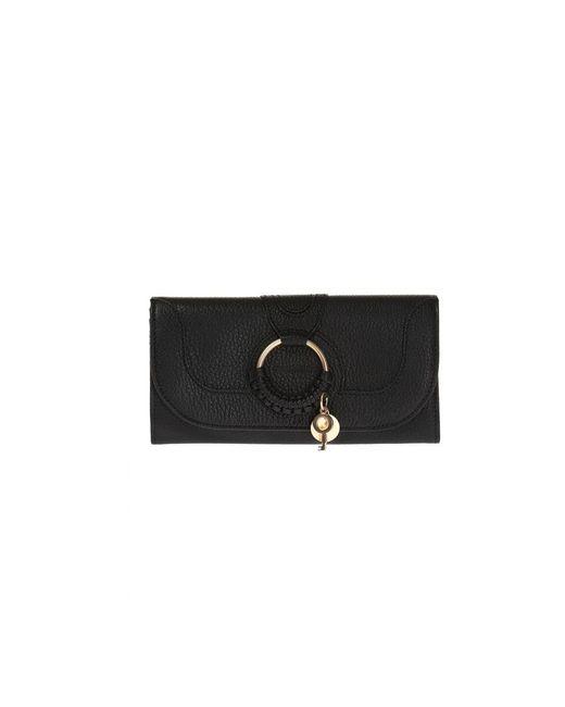 Porte-feuille en cuire See By Chloé en coloris Black