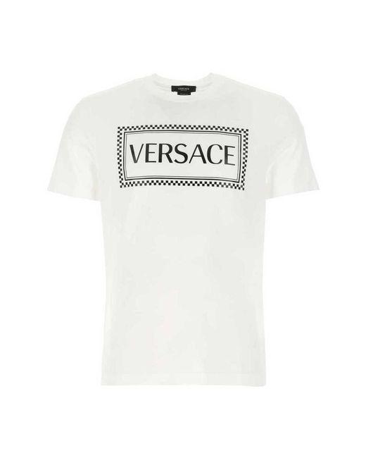 T-Shirt di Versace in White da Uomo