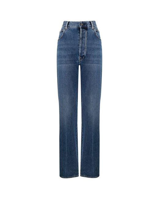 Pantalon KIM Moyen Dark Wash / Goujons Secondaires Golden Goose Deluxe Brand en coloris Blue