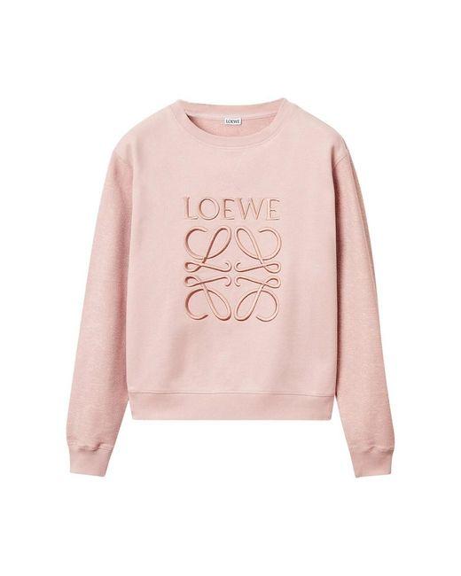Loewe Anagram Sweatshirt in het Pink