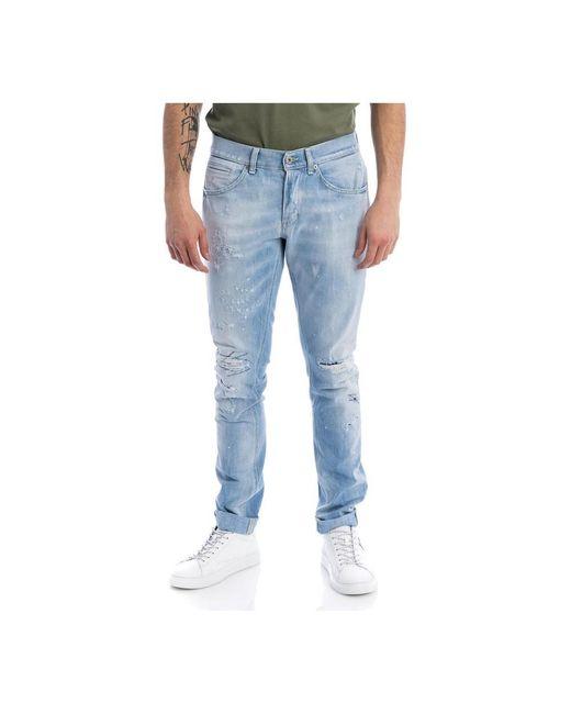 Dondup Pantalone George in het Blue voor heren