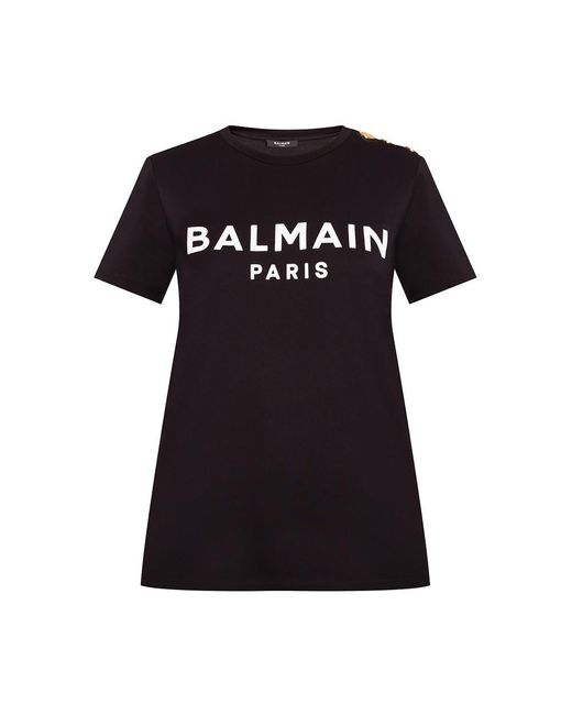Balmain T-shirt in het Black
