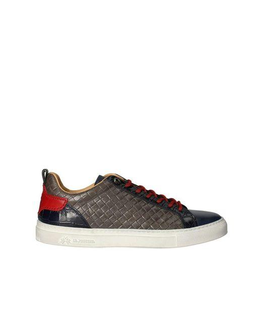 La Martina Lfm211.012.2070pe21 Sneakers Low in het Black voor heren