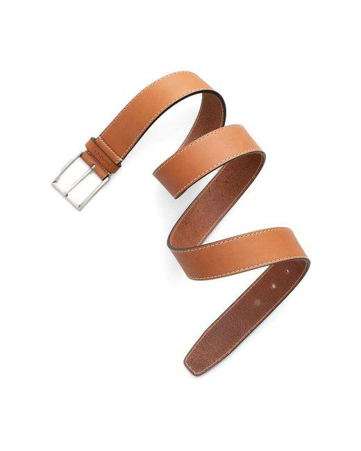 Gant D1. Contrast Stitch Belt in het Brown voor heren