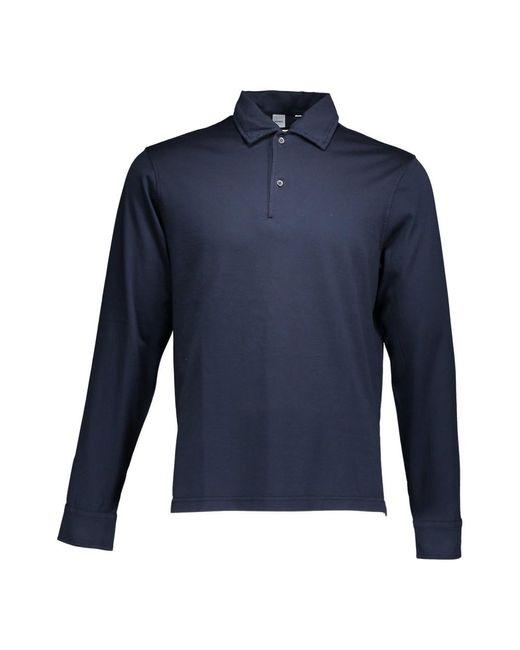 Aspesi Polo Maniche Lunghe in het Blue voor heren