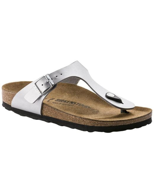 Flat shoes Birkenstock en coloris Gray