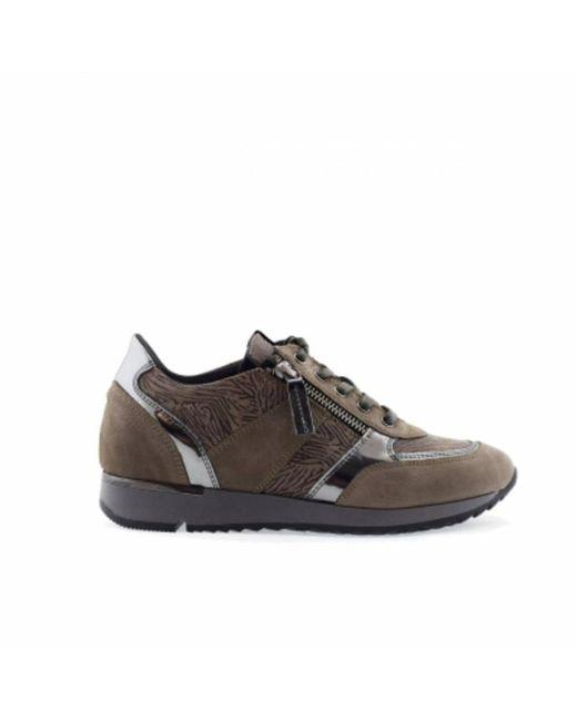 DL SPORT® 4819 Dames Sneakers Taupe in het Brown