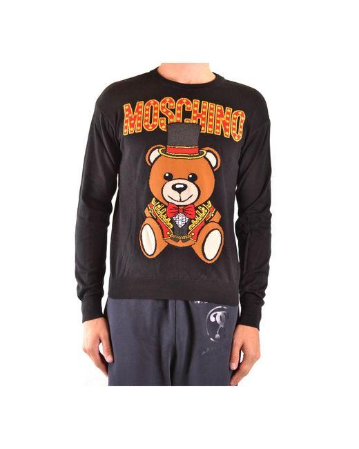 Sweater di Moschino in Black da Uomo