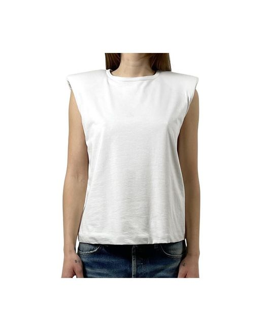 FEDERICA TOSI T-shirt Smanicata in het White