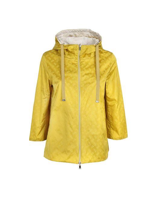 Herno Coat in het Yellow