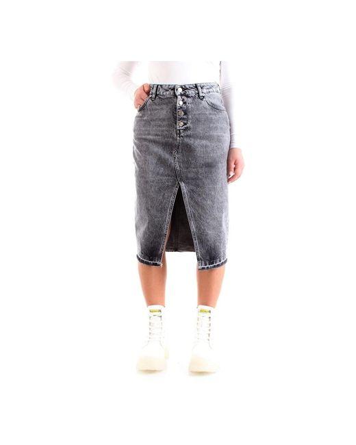 ViCOLO Midi Skirt in het Gray